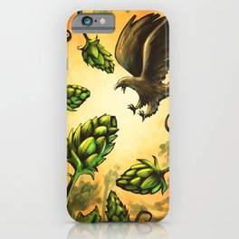 Screaming Eagle and Raging Hops (Warm) iPhone Case