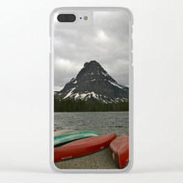 Two Medicine Lake With Sinopah Mountain Clear iPhone Case
