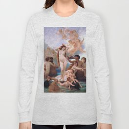 The Birth of Venus by William Adolphe Bouguereau Long Sleeve T-shirt