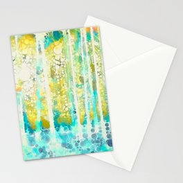 Sherwood Pines Abstract Art Stationery Cards