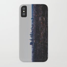 Los Angeles in fog iPhone Case