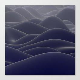 Blue ocean of wax Canvas Print