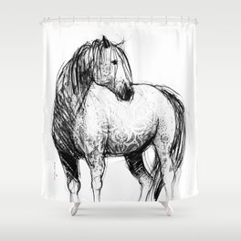 Horse (Mustang) Shower Curtain