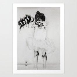 Bad Ballerina Art Print