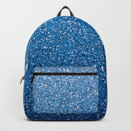 Blue Ombre Glitter Backpack
