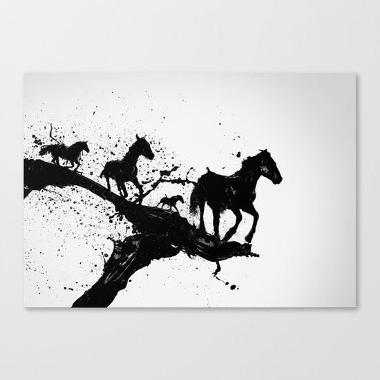Liquid horses Canvas Print