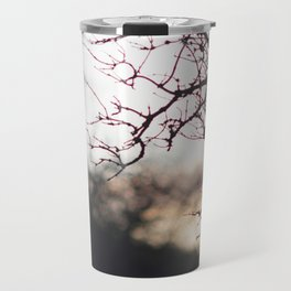 Sunset through trees Travel Mug