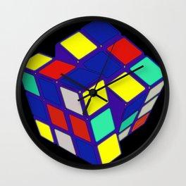 Rubik's Cube Pop Art Wall Clock
