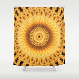 Embers Mandala Shower Curtain