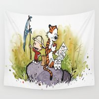 calvin Wall Tapestries featuring Calvin n hobbes by TEUFEL_STRITT666