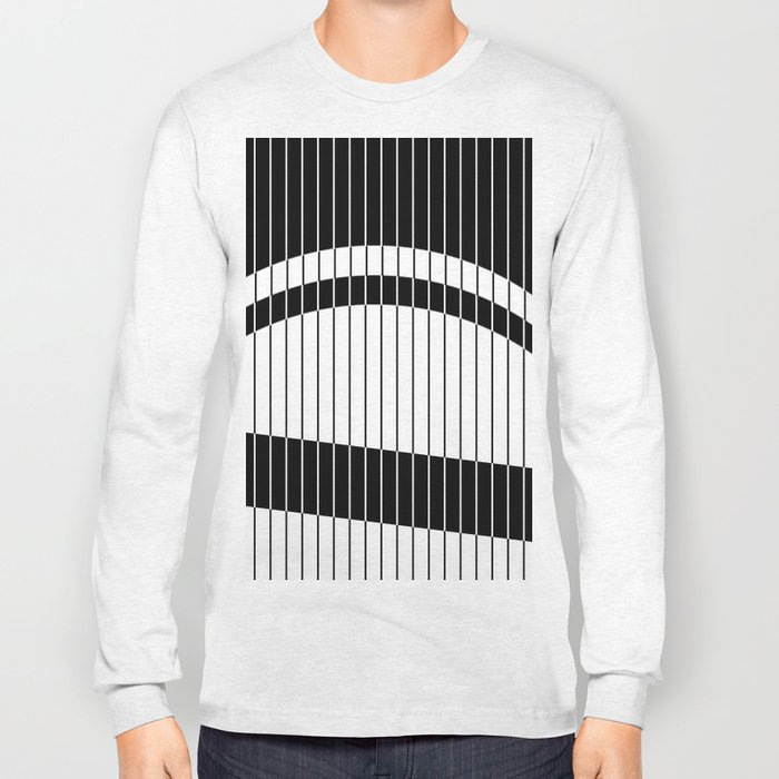 Colour Blind (Abstract, minimalistic black and white) Long Sleeve T-shirt
