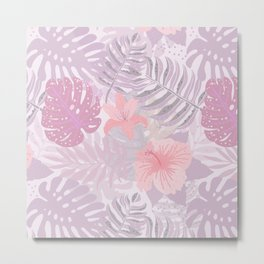 My Pink Abstract Aloha Flower Jungle Garden Metal Print