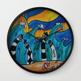 Lighthouse Jamboree by Hangin Fin TM Wall Clock