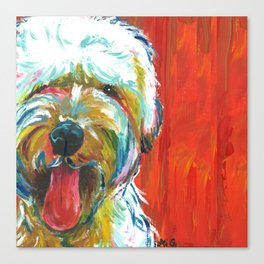 Soft-Coated Wheaten Terrier // Colorful  Canvas Print