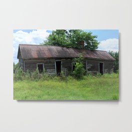 Abandoned Farmhouse front view Metal Print