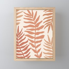 Modern Leaves Framed Mini Art Print