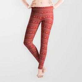 Hearts Knitted Christmas Decor Leggings