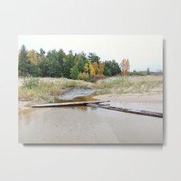 Creek at Lake Michigan, Leelanau County Metal Print