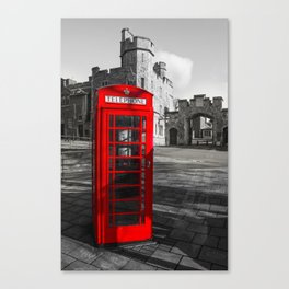 Red Telephone Box at Windsor Castle Canvas Print