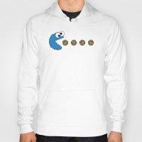 cookie monster Hoodies featuring Cookie monster Pacman by dutyfreak