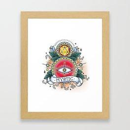 Mystic - Vintage D&D Tattoo Framed Art Print