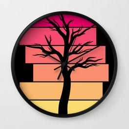 Tree Silhouette (Sunrise) Wall Clock
