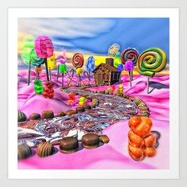 Pink Candyland Art Print
