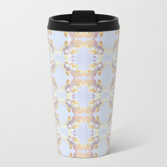 On Butterfly Wings Metal Travel Mug