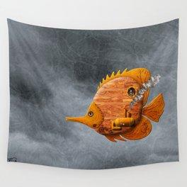 Steampunk Butterflyfish II Wall Tapestry