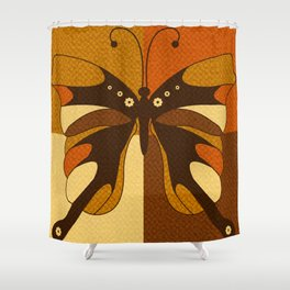 RETRO BUTTERFLY Shower Curtain