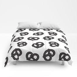 Postmodern Pretzels in Black + White Comforters