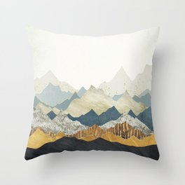 Distant Peaks Throw Pillow