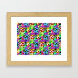 Qu - pattern 2 Framed Art Print