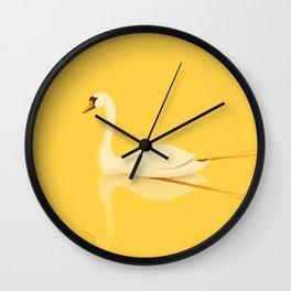Swan Gliding Beauty Wall Clock