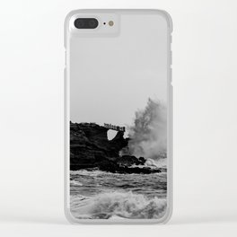 POWERFUL NATURE Clear iPhone Case