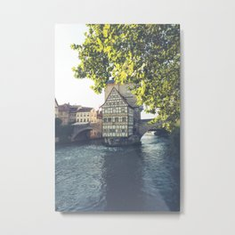 Old Town Hall of Bamberg Bavaria Germany by the river Regnitz Metal Print