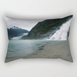Mendenhall Glacier and Waterfall Rectangular Pillow