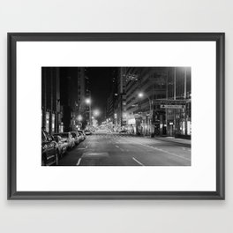 Madison Ave. 12:30am Framed Art Print