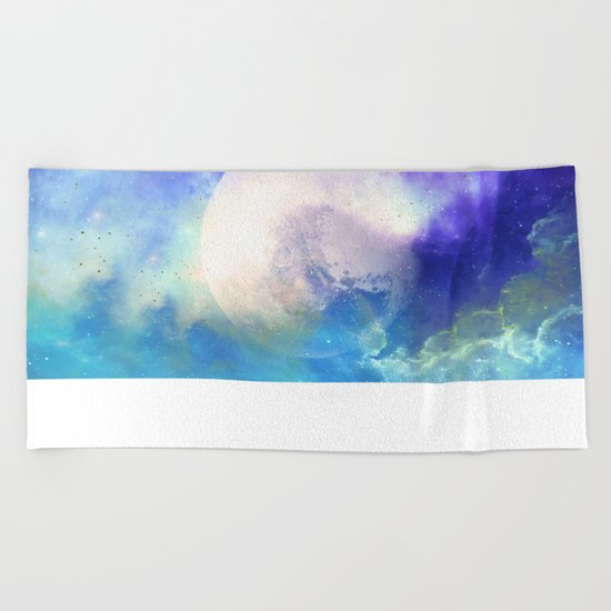 Silver Mirror Beach Towel