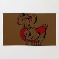 fat Area & Throw Rugs featuring Fat Goat by Esmeralda Snaphaan