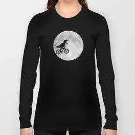 dinosaur moon Long Sleeve T-shirt