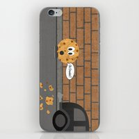 cookie iPhone & iPod Skins featuring Cookie by Laugh Your Head Off