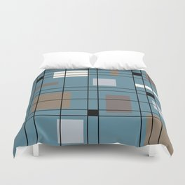 1950's Abstract Art Duvet Cover