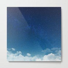 Blue Starry Sky Metal Print