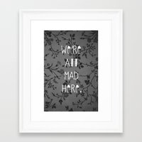 mad Framed Art Prints featuring Mad by Cactus And Fog