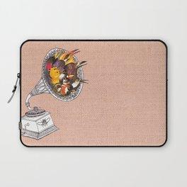 Bird Gramophone Cover Art Laptop Sleeve