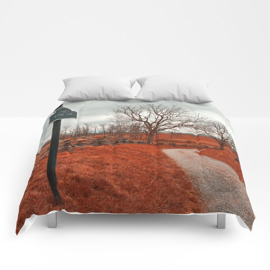 Bloody Red Lane Comforters