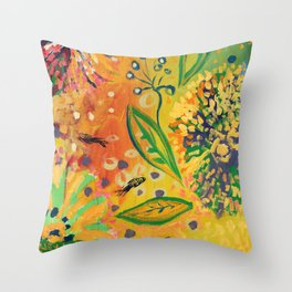 Immersed in Shallow Waters, Part 9 Throw Pillow