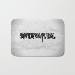 Supernatural monochrome Bath Mat
