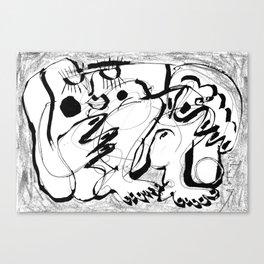 Female Nude #2 - b&w Canvas Print